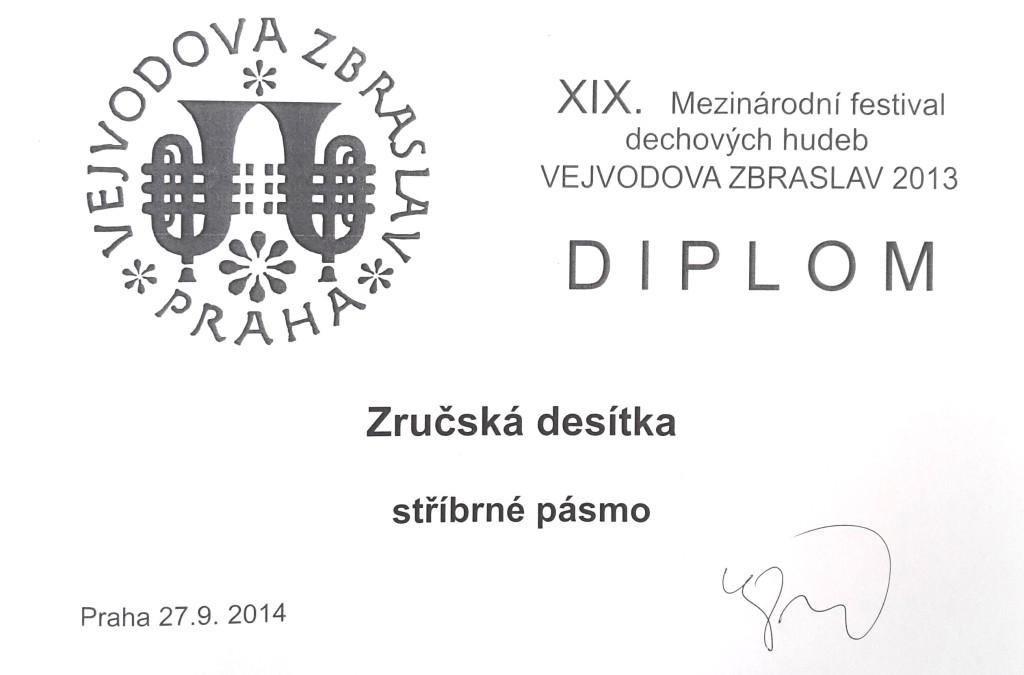 diplom Zbraslav 2014